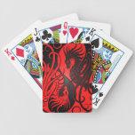 Dragones de Yin Yang del vuelo - rojo y negro Baraja Cartas De Poker