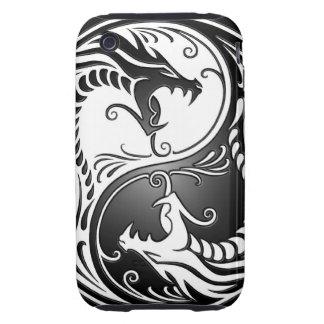 Dragones de Yin Yang Tough iPhone 3 Coberturas