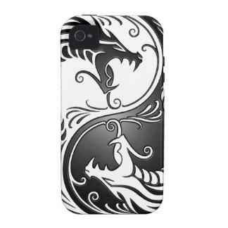 Dragones de Yin Yang Vibe iPhone 4 Carcasas