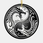 Dragones de Yin Yang Ornamento Para Reyes Magos