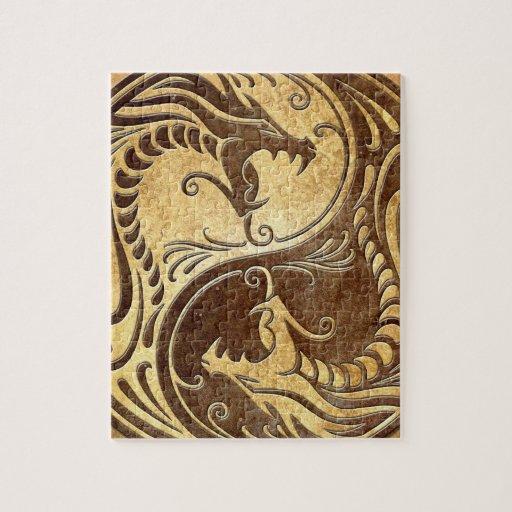 Dragones de Yin Yang, piedra Puzzles