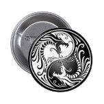 Dragones de Yin Yang Pins