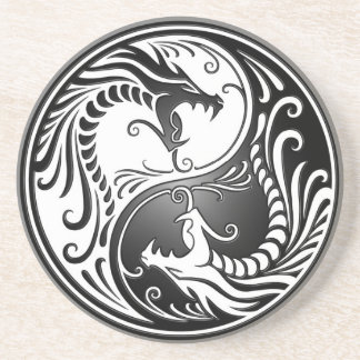 Dragones de Yin Yang Posavasos Cerveza