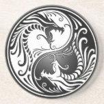 Dragones de Yin Yang Posavasos Manualidades