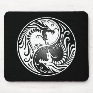 Dragones de Yin Yang Alfombrillas De Ratones
