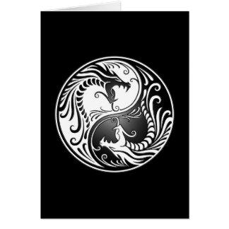 Dragones de Yin Yang Tarjeton