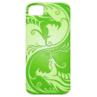 Dragones de Yin Yang, verdes claros iPhone 5 Carcasas