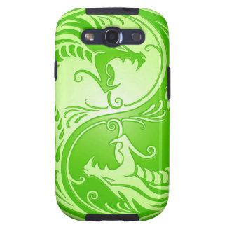 Dragones de Yin Yang, verdes claros Galaxy SIII Cárcasa