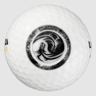 Dragones del asiático de Yin y de Yang Pack De Pelotas De Golf