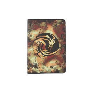 Dragones del asiático de Yin y de Yang Porta Pasaporte