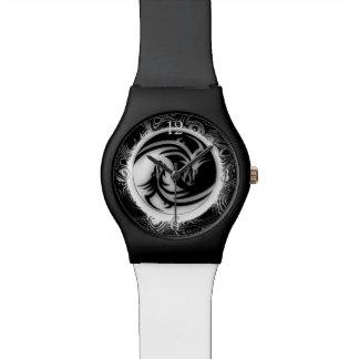 Dragones del asiático de Yin y de Yang Reloj De Mano