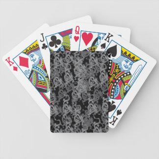 Dragones del gris de Ying Yang Baraja Cartas De Poker