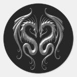 Dragones del hierro pegatinas redondas
