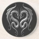 Dragones del hierro posavasos personalizados