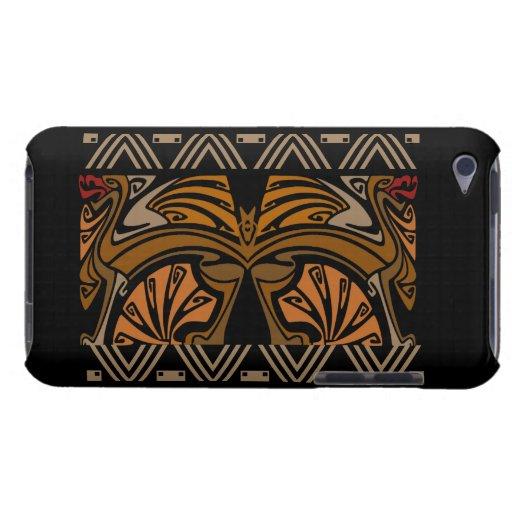 Dragones del marrón del nouveau del arte del vinta Case-Mate iPod touch funda