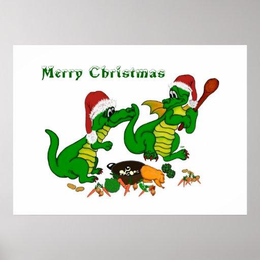 Dragones del navidad - cocinaré hoy póster