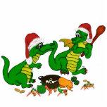 Dragones del navidad - quiero hoy al cocinero escultura fotografica