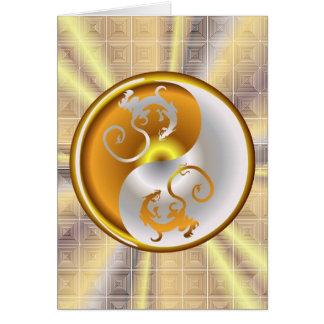 Dragones del zen tarjeta de felicitación