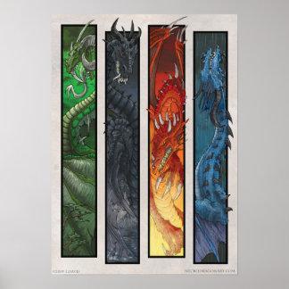 Dragones elementales impresiones