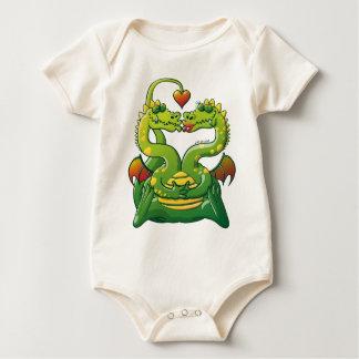 Dragones enojado en amor trajes de bebé
