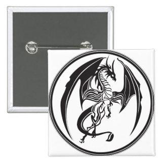 Dragones flacos pin cuadrado