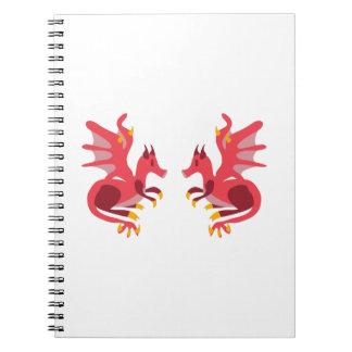 Dragones gemelos spiral notebooks