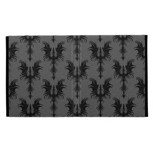 Dragones góticos negros en modelo gris