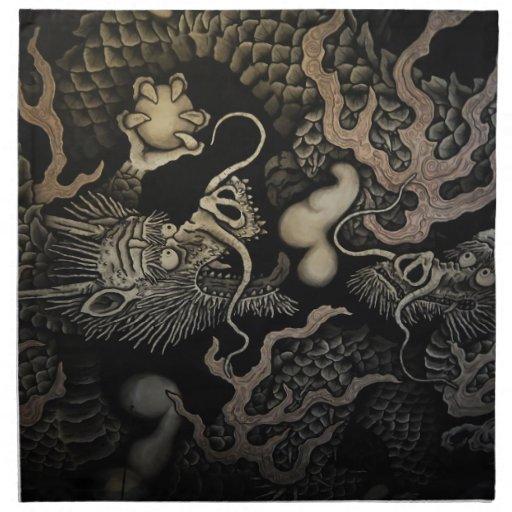 Dragones japoneses servilletas de papel
