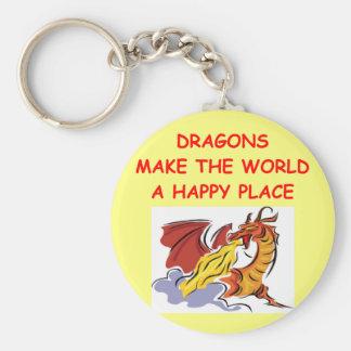 dragones llavero redondo tipo pin
