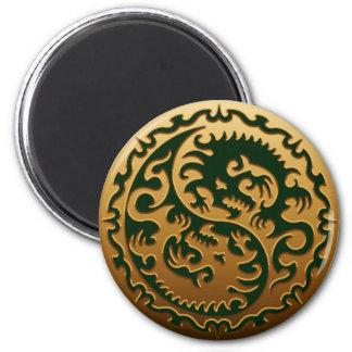 Dragones mágicos 3 de Yin Yang Imán Para Frigorifico
