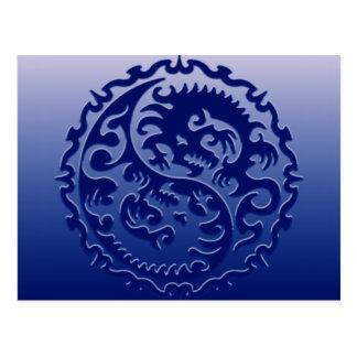 Dragones mágicos de Yin Yang Postal