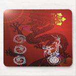 Dragones orientales tapetes de ratón