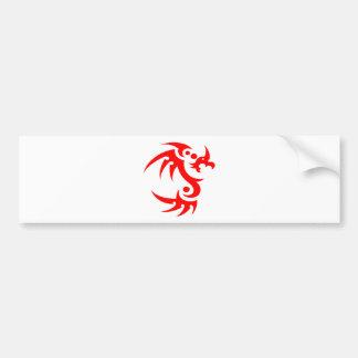 dragones pegatina de parachoque