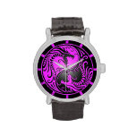 Dragones, púrpura y negro de Yin Yang
