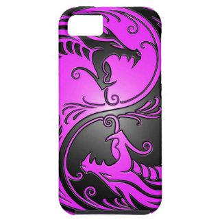 Dragones, púrpura y negro de Yin Yang iPhone 5 Cobertura