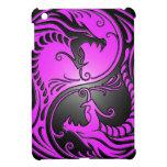 Dragones, púrpura y negro de Yin Yang iPad Mini Fundas