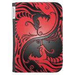 Dragones, rojo y negro de Yin Yang