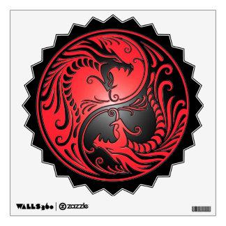 Dragones rojo y negro de Yin Yang