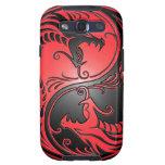Dragones, rojo y negro de Yin Yang Galaxy SIII Cobertura