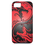 Dragones, rojo y negro de Yin Yang iPhone 5 Case-Mate Carcasa