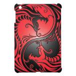 Dragones, rojo y negro de Yin Yang iPad Mini Protector