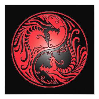 Dragones, rojo y negro de Yin Yang Anuncios