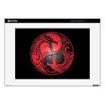 Dragones, rojo y negro de Yin Yang Portátil 38,1cm Skin