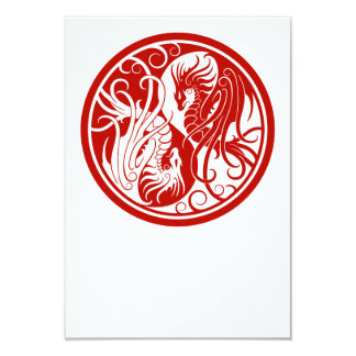 Dragones rojos de Yin que vuelan Yang Anuncios Personalizados