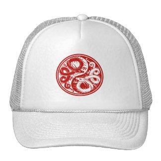 Dragones rojos del chino de Yin Yang Gorro