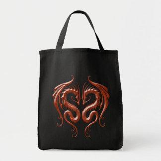 Dragones rojos del hierro bolsa tela para la compra