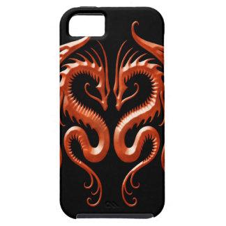 Dragones rojos del hierro iPhone 5 carcasa