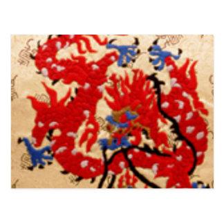 Dragones rojos del oro de NOVINO n Postal