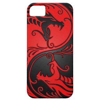 Dragones rojos y negros de Yin Yang iPhone 5 Case-Mate Protector