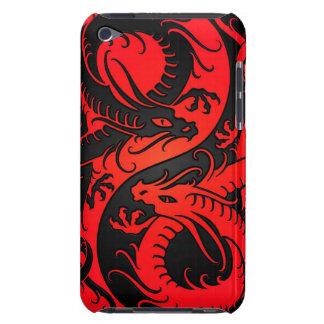 Dragones rojos y negros del chino de Yin Yang Case-Mate iPod Touch Funda